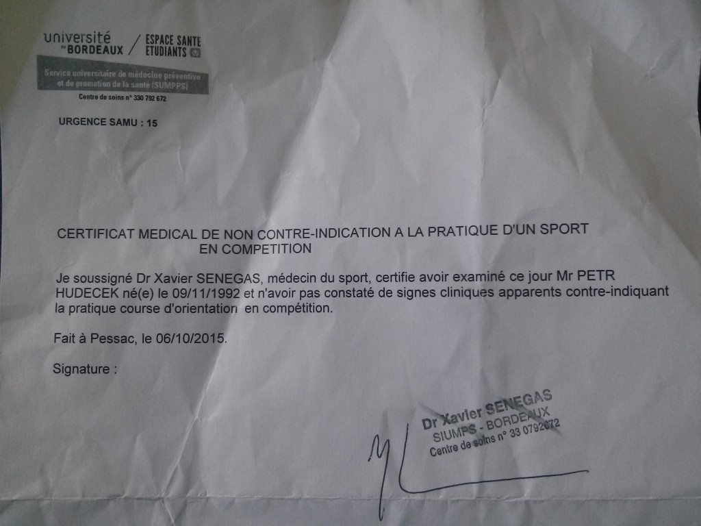 CertificateOfOrienteering